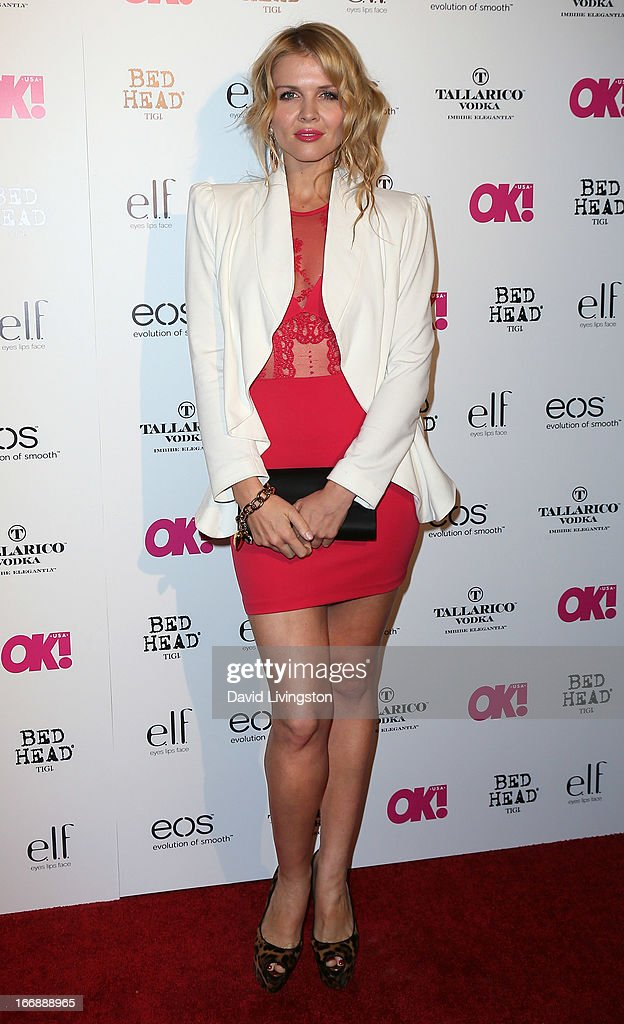 TV personality Elena Samodanova attends the OK! Magazine 'So Sexy' LA party at SkyBar at the Mondrian Los Angeles on April 17, 2013 in West Hollywood, California.