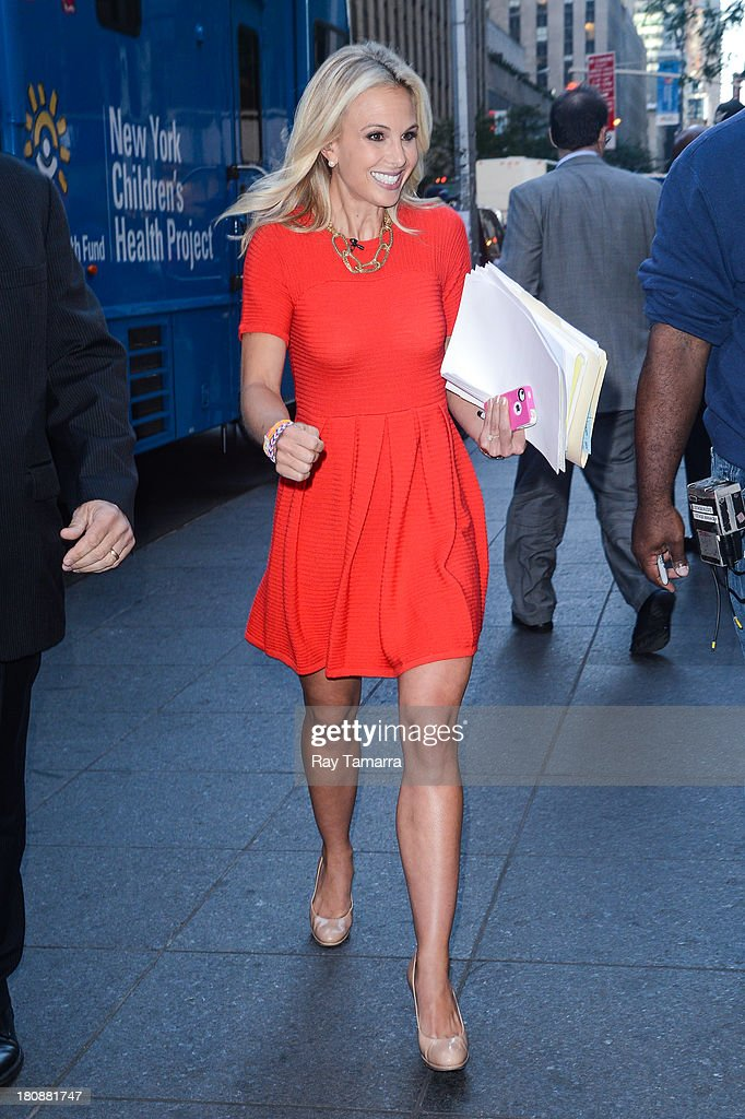 TV personality <a gi-track='captionPersonalityLinkClicked' href=/galleries/search?phrase=Elisabeth+Hasselbeck&family=editorial&specificpeople=234656 ng-click='$event.stopPropagation()'>Elisabeth Hasselbeck</a> leaves the 'FOX & Friends' taping at the FOX Studios on September 17, 2013 in New York City.