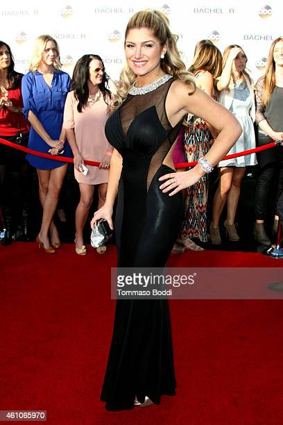 TV personality Elise Mosca attends the ABC's 'The Bachelor' season 19 premiere held at the Line 204 East Stages on January 5 2015 in Hollywood...