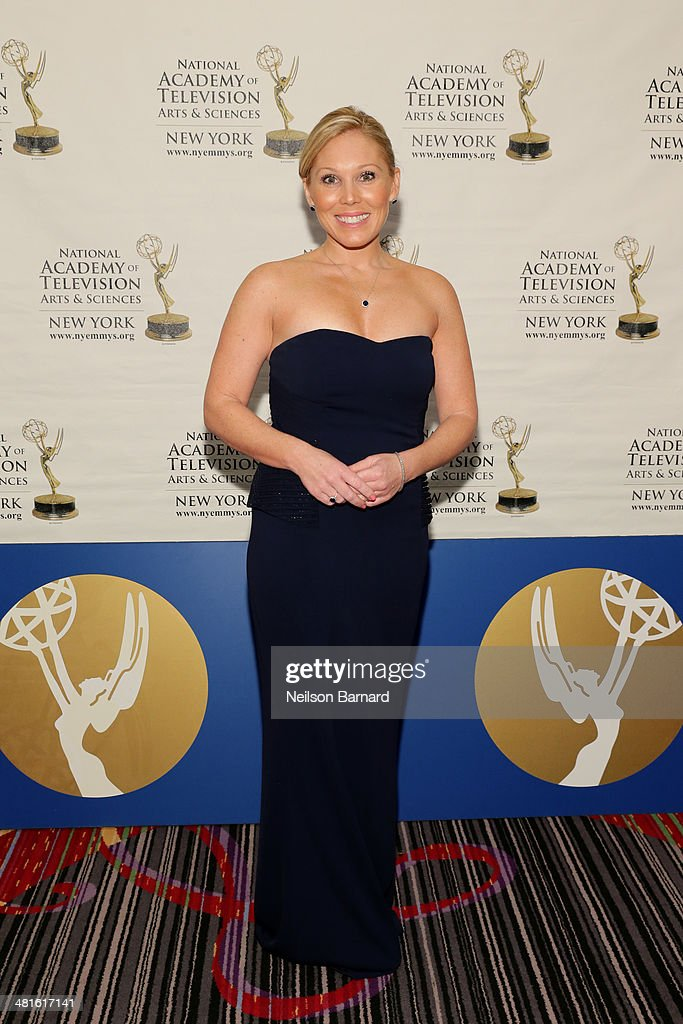 Personality Elizabeth Hashagen arrives at the 57th Annual New York Emmy awards at Marriott Marquis Times Square on March 30 2014 in New York City