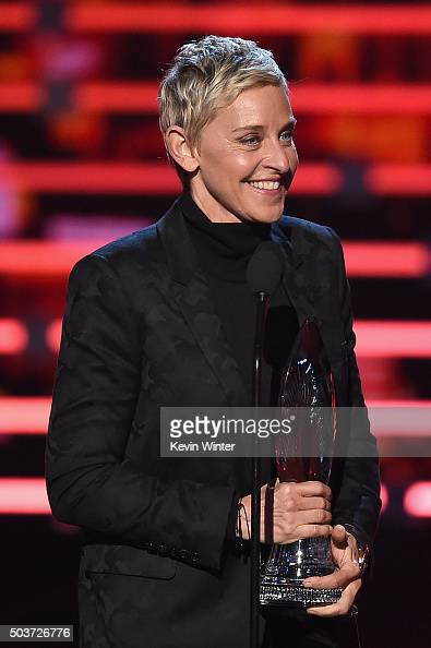 TV personality Ellen DeGeneres accepts Favorite Daytime TV Host award onstage during the People's Choice Awards 2016 at Microsoft Theater on January...