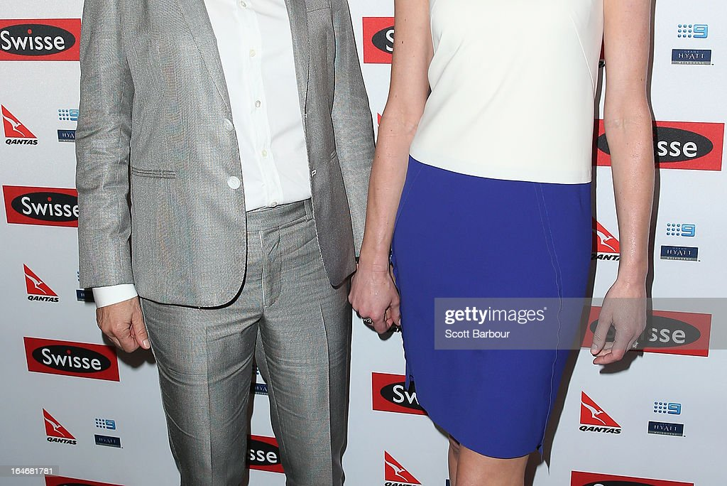 TV personality, <a gi-track='captionPersonalityLinkClicked' href=/galleries/search?phrase=Ellen+DeGeneres&family=editorial&specificpeople=171367 ng-click='$event.stopPropagation()'>Ellen DeGeneres</a> and her wife <a gi-track='captionPersonalityLinkClicked' href=/galleries/search?phrase=Portia+de+Rossi&family=editorial&specificpeople=204197 ng-click='$event.stopPropagation()'>Portia de Rossi</a> arrive at a <a gi-track='captionPersonalityLinkClicked' href=/galleries/search?phrase=Ellen+DeGeneres&family=editorial&specificpeople=171367 ng-click='$event.stopPropagation()'>Ellen DeGeneres</a> Welcome Party on March 26, 2013 in Melbourne, Australia. <a gi-track='captionPersonalityLinkClicked' href=/galleries/search?phrase=Ellen+DeGeneres&family=editorial&specificpeople=171367 ng-click='$event.stopPropagation()'>Ellen DeGeneres</a> is in Australia to film segments for her TV show, 'Ellen'.
