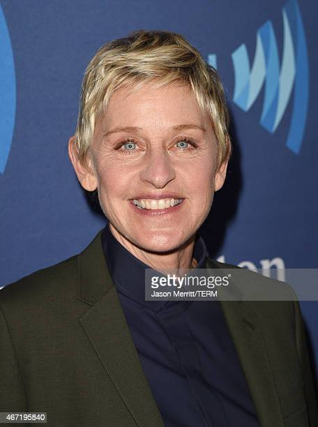 TV personality Ellen DeGeneres attends the 26th Annual GLAAD Media Awards at The Beverly Hilton Hotel on March 21 2015 in Beverly Hills California