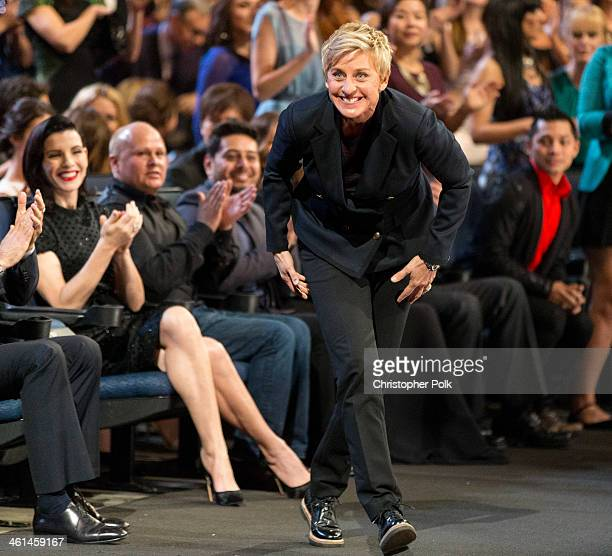 TV personality Ellen DeGeneres attends The 40th Annual People's Choice Awards at Nokia Theatre LA Live on January 8 2014 in Los Angeles California