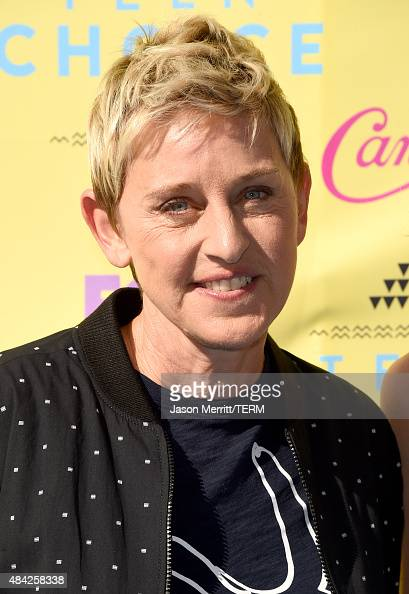 TV personality Ellen DeGeneres attends the Teen Choice Awards 2015 at the USC Galen Center on August 16 2015 in Los Angeles California