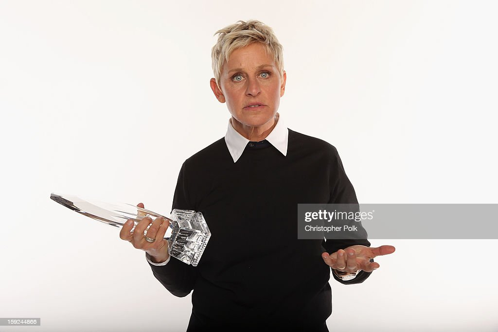 TV personality <a gi-track='captionPersonalityLinkClicked' href=/galleries/search?phrase=Ellen+DeGeneres&family=editorial&specificpeople=171367 ng-click='$event.stopPropagation()'>Ellen DeGeneres</a> poses for a portrait during the 39th Annual People's Choice Awards at Nokia Theatre L.A. Live on January 9, 2013 in Los Angeles, California.