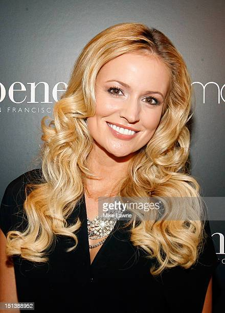 TV personality Emily Maynard attends Benefit Cosmetics Beauty Best Or Bust Party hosted by Emily Maynard at Macy's Herald Square on September 6 2012...