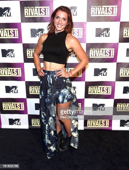 TV personality Emily Schromm attends MTV's 'The Challenge Rivals II' Final Episode and Reunion Party at Chelsea Studio 'B' on September 25 2013 in...