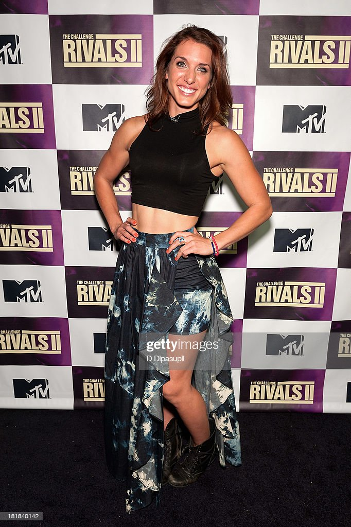 TV personality Emily Schromm attends MTV's 'The Challenge: Rivals II' Final Episode and Reunion Party at Chelsea Studio on September 25, 2013 in New York City.