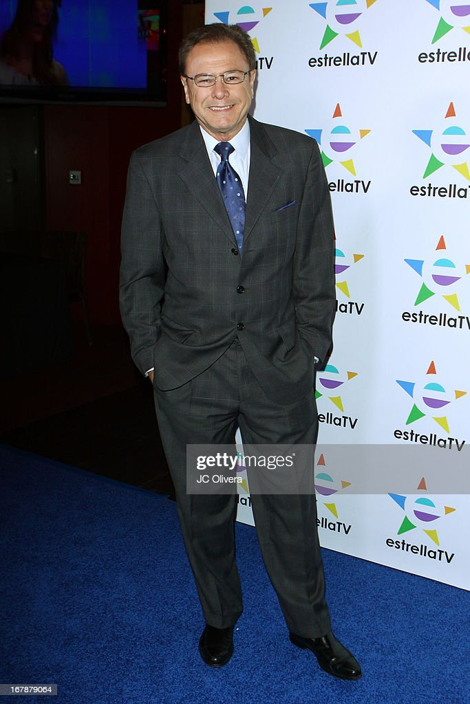TV Personality Enrique Gratas attends the launch party for Estrella TV news anchor: Myrka Dellanos at The Conga Room at L.A. Live on May 1, 2013 in Los Angeles, California.