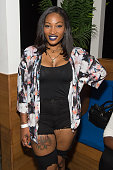TV personality Erica Dixon attends the private screening of Lifetime's 'The Rap Game' at Suite Food Lounge on July 22 2016 in Atlanta Georgia