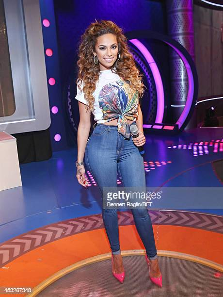 TV personality Erica Mena visits 106 Park at BET studio on August 6 2014 in New York City
