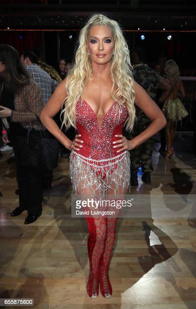 TV personality Erika Jayne attends 'Dancing with the Stars' Season 24 premiere at CBS Televison City on March 20 2017 in Los Angeles California