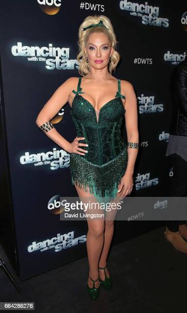 TV personality Erika Jayne attends 'Dancing with the Stars' Season 24 at CBS Televison City on April 3 2017 in Los Angeles California