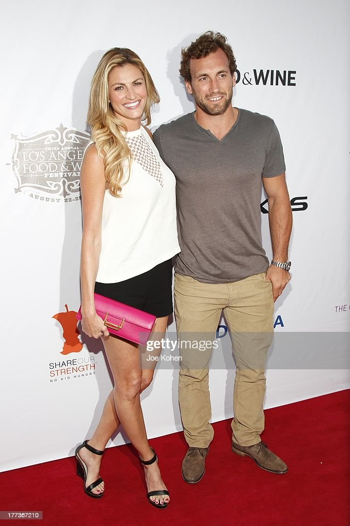 TV personality Erin Andrews and professional ice hockey player Jarret Stoll attend the 2013 Los Angeles Food & Wine Festival 'Festa Italiana With Giada De Laurentiis' Opening Night Gala on August 22, 2013 in Los Angeles, California.