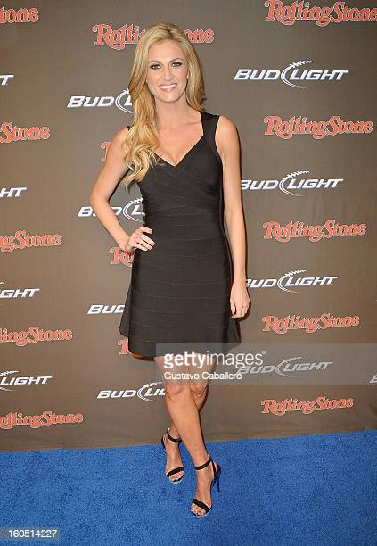 TV personality Erin Andrews arrives at the Rolling Stone LIVE party held at the Bud Light Hotel on February 1 2013 in New Orleans Louisiana