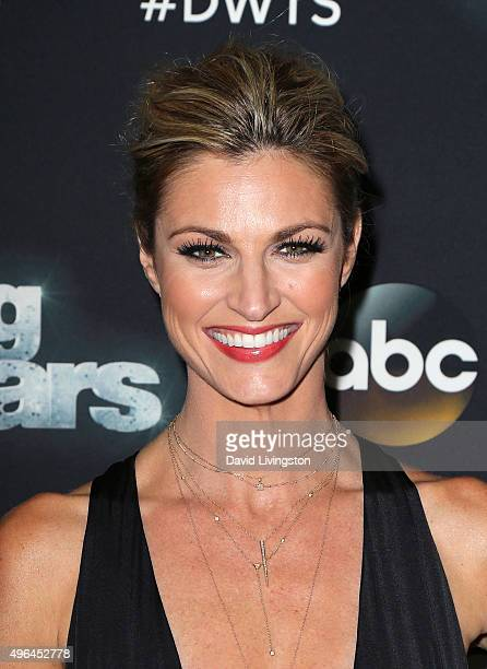 TV personality Erin Andrews attends 'Dancing with the Stars' Season 21 at CBS Televison City on November 9 2015 in Los Angeles California