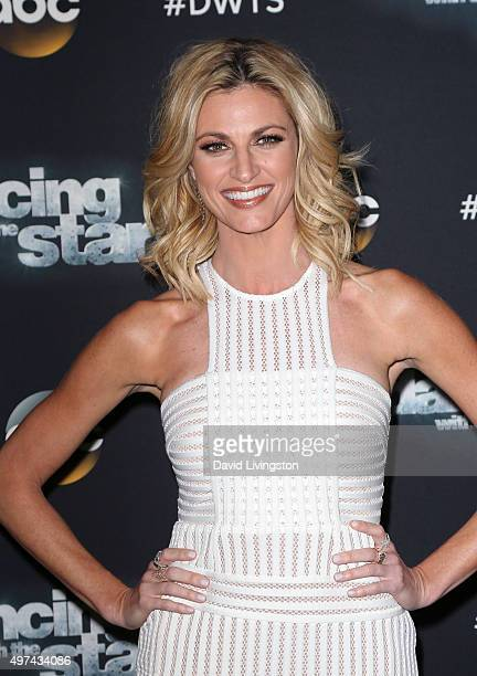 TV personality Erin Andrews attends 'Dancing with the Stars' Season 21 at CBS Television City on November 16 2015 in Los Angeles California