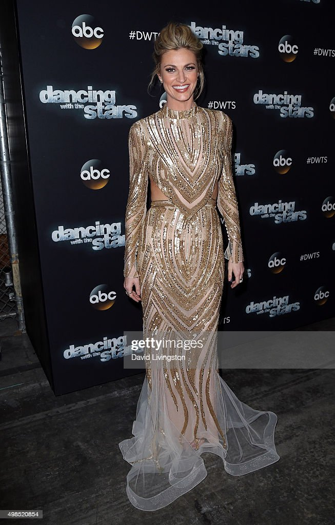 TV personality Erin Andrews attends 'Dancing with the Stars' Season 21 at CBS Televison City on November 23 2015 in Los Angeles California