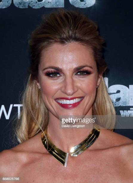 TV personality Erin Andrews attends 'Dancing with the Stars' Season 24 at CBS Televison City on March 27 2017 in Los Angeles California