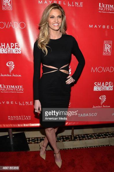 Personality Erin Andrews attends SHAPE Men's Fitness Kickoff Party at Cipriani 42nd Street on January 31 2014 in New York City