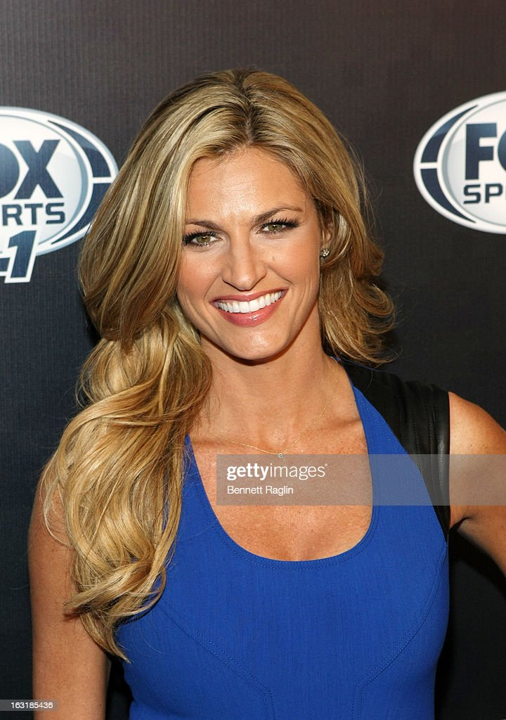 TV personality <a gi-track='captionPersonalityLinkClicked' href=/galleries/search?phrase=Erin+Andrews&family=editorial&specificpeople=834273 ng-click='$event.stopPropagation()'>Erin Andrews</a> attends the 2013 Fox Sports Media Group Upfront after party at Roseland Ballroom on March 5, 2013 in New York City.