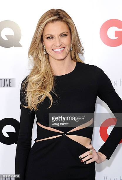 TV personality Erin Andrews attends the GQ Super Bowl Party 2014 sponsored by Patron Tequila Van Heusen and Miller Fortune on January 31 2014 in New...