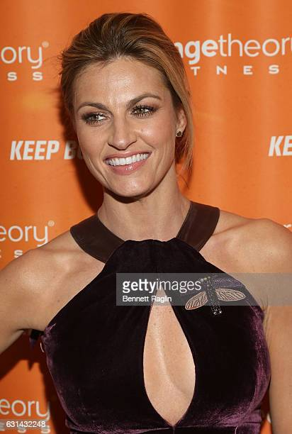 TV personality Erin Andrews attends the Orangetheory Fitness Grand Opening at Orangetheory Fitness Astor Place on January 10 2017 in New York City