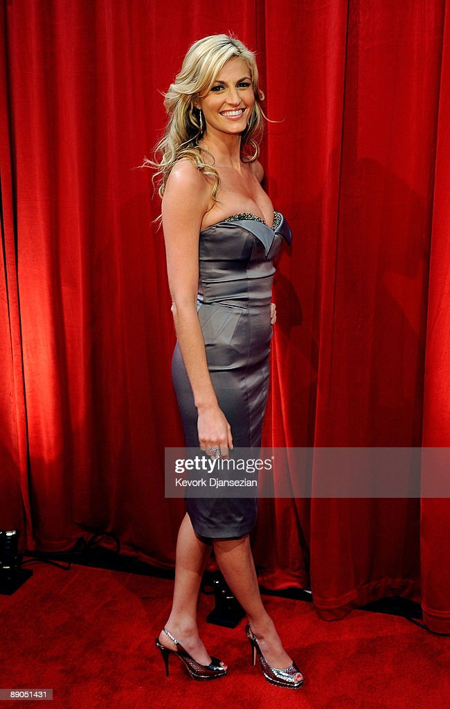 TV personality Erin Andrews poses during the 2009 ESPY awards held at Nokia Theatre LA Live on July 15 2009 in Los Angeles California The 17th annual...