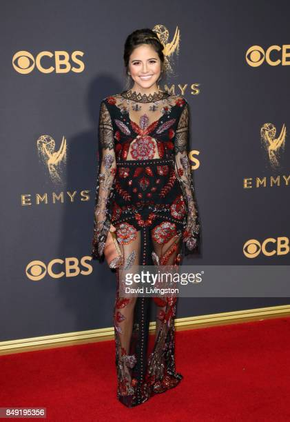 TV personality Erin Lim attends the 69th Annual Primetime Emmy Awards Arrivals at Microsoft Theater on September 17 2017 in Los Angeles California