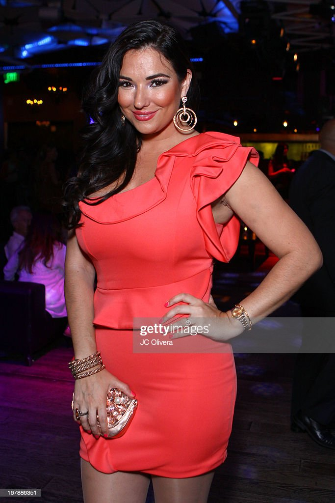 TV Personality Estefania Iglesias attends the launch party for Estrella TV news anchor: Myrka Dellanos at The Conga Room at L.A. Live on May 1, 2013 in Los Angeles, California.