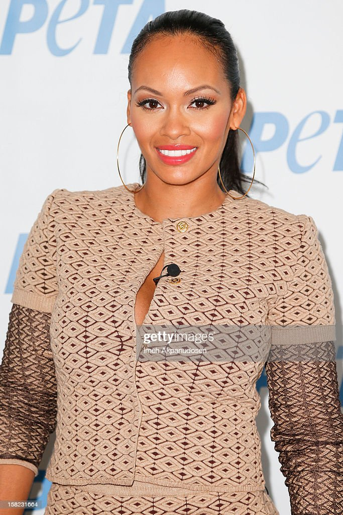 TV personality <a gi-track='captionPersonalityLinkClicked' href=/galleries/search?phrase=Evelyn+Lozada&family=editorial&specificpeople=6747068 ng-click='$event.stopPropagation()'>Evelyn Lozada</a> unveils her 'Cheeky' new winter-themed naked anti-fur ad for PETA held at the at The Bob Barker Building on December 11, 2012 in Los Angeles, California.