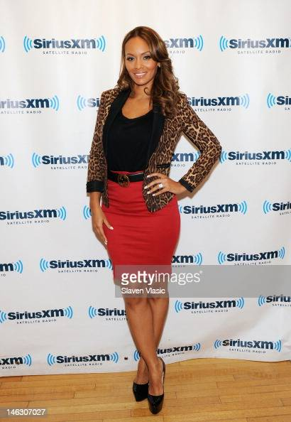 TV personality Evelyn Lozada visits SiriusXM Studio on June 13 2012 in New York City