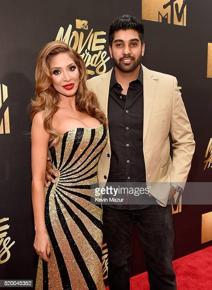 TV personality Farrah Abraham and Simon Saran attend the 2016 MTV Movie Awards at Warner Bros Studios on April 9 2016 in Burbank California MTV Movie...