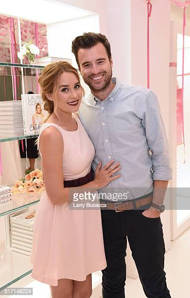 TV personality fashion designer and author Lauren Conrad and musician William Tell attend the 'Lauren Conrad Celebrate' book launch party at Kohl's...