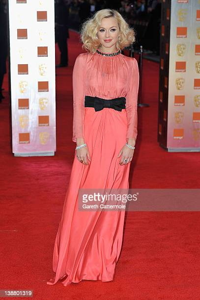 TV personality Fearne Cotton attends the Orange British Academy Film Awards 2012 at the Royal Opera House on February 12 2012 in London England