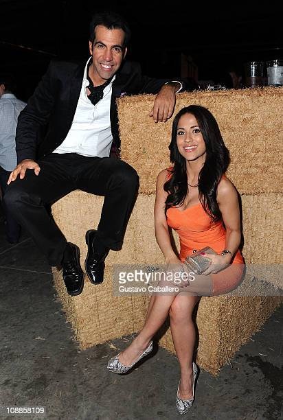 Personality Felipe Viel and Jackie Guerrido attends the Maxim Party Powered by Motorola Xoom at Centennial Hall at Fair Park on February 5 2011 in...