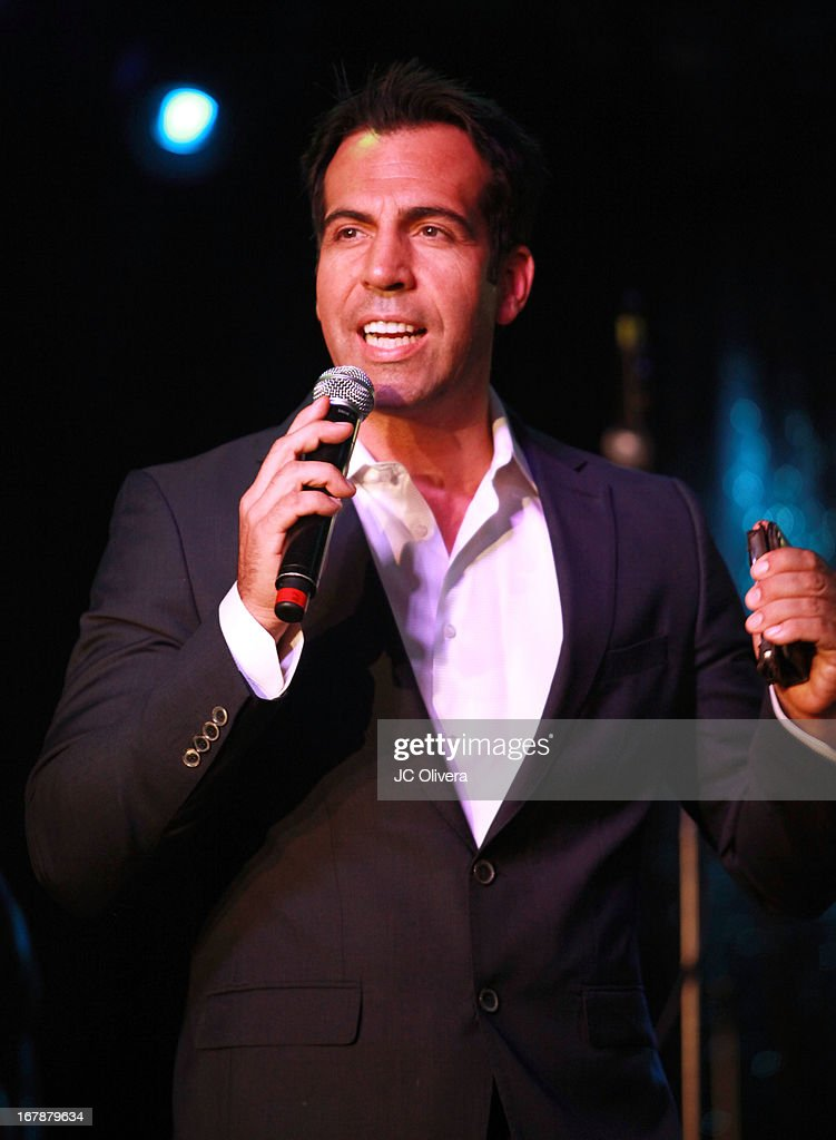 TV Personality Felipe Viel speaks during the launch party for Estrella TV news anchor: Myrka Dellanos at The Conga Room at L.A. Live on May 1, 2013 in Los Angeles, California.