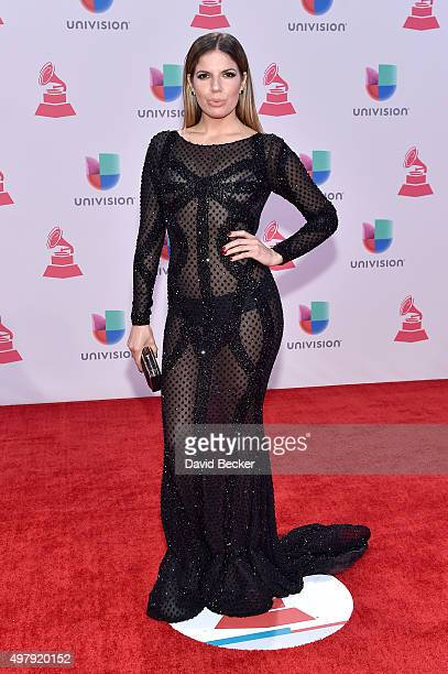 TV personality Fernanda Kelly attends the 16th Latin GRAMMY Awards at the MGM Grand Garden Arena on November 19 2015 in Las Vegas Nevada