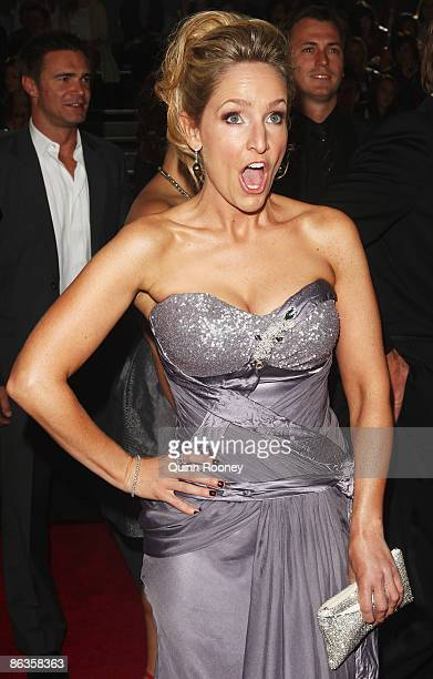TV personality Fifi Box arrives for the 51st TV Week Logie Awards at the Crown Towers Hotel and Casino on May 3 2009 in Melbourne Australia