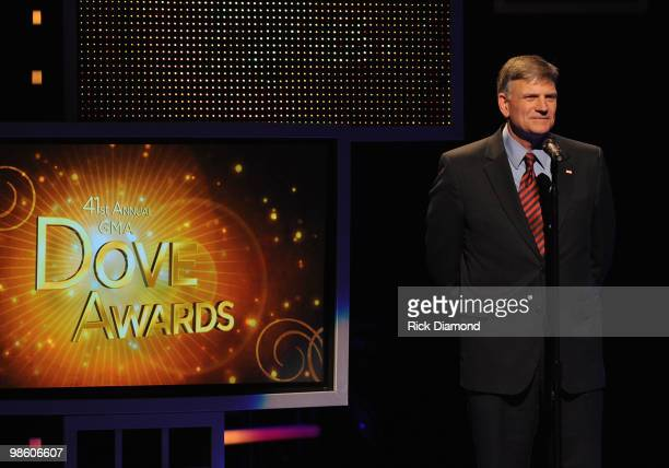 Personality Franklin Graham at The 41st Annual GMA Dove Awards at The Grand Ole Opry House on April 21 2010 in Nashville Tennessee