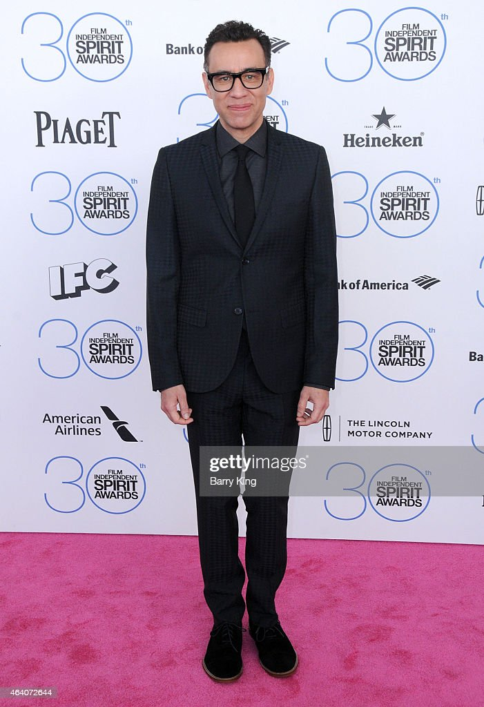 TV personality Fred Armisen arrives at the 2015 Film Independent Spirit Awards at Santa Monica Beach on February 21 2015 in Santa Monica California