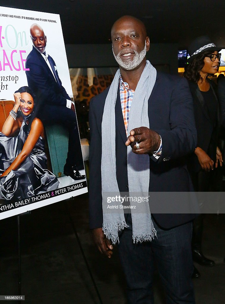 TV personality from The Real Housewives of Atlanta, Peter Thomas attends the 'Carry-On Baggage, Our Non-Stop Flight' book launch event at Clyde Frazier's Wine and Dine on October 19, 2013 in New York City.