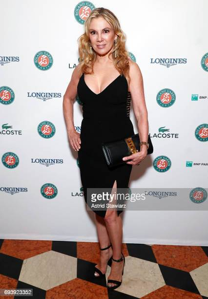 TV personality from 'The Real Housewives of New York City' Ramona Singer attends the RolandGarros reception at French Consulate on June 8 2017 in New...