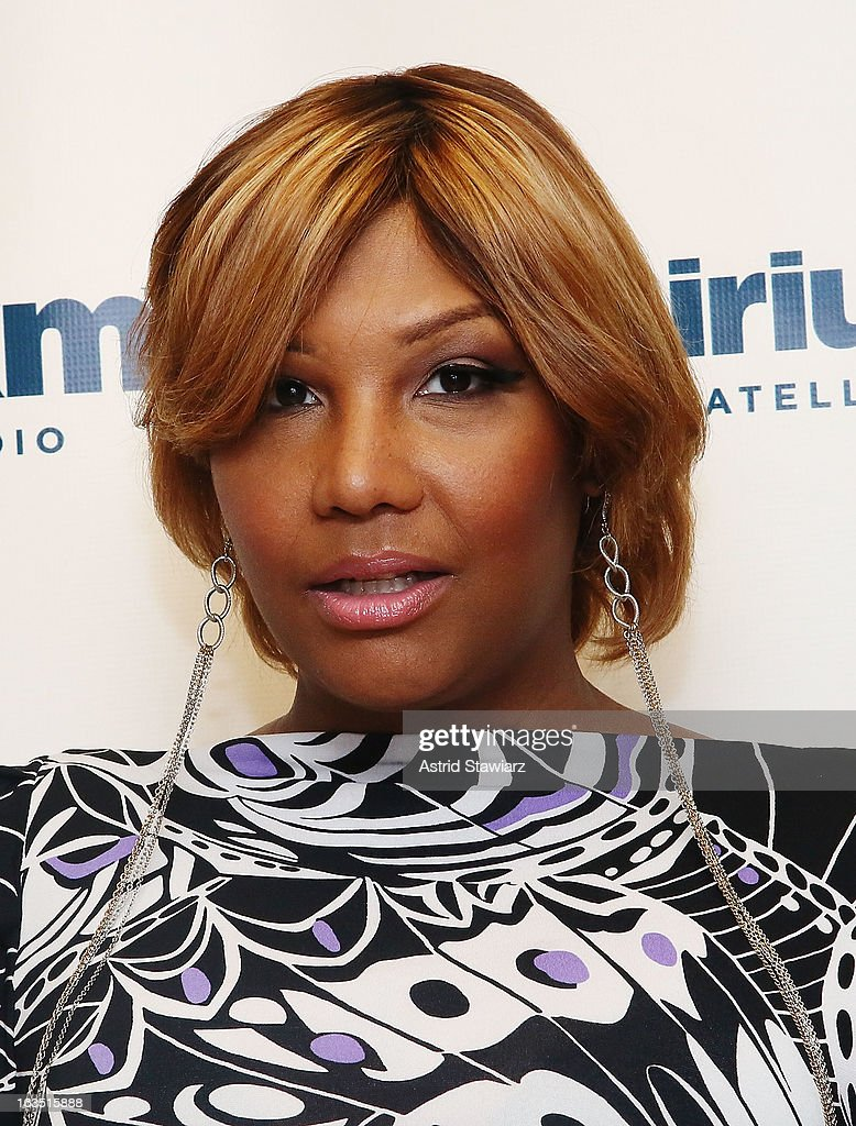TV personality from WE TV's 'Braxton Family Values', Traci Braxton visits the SiriusXM studios on March 11, 2013 in New York City.