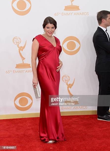 TV personality Gail Simmons arrives at the 65th Annual Primetime Emmy Awards held at Nokia Theatre LA Live on September 22 2013 in Los Angeles...