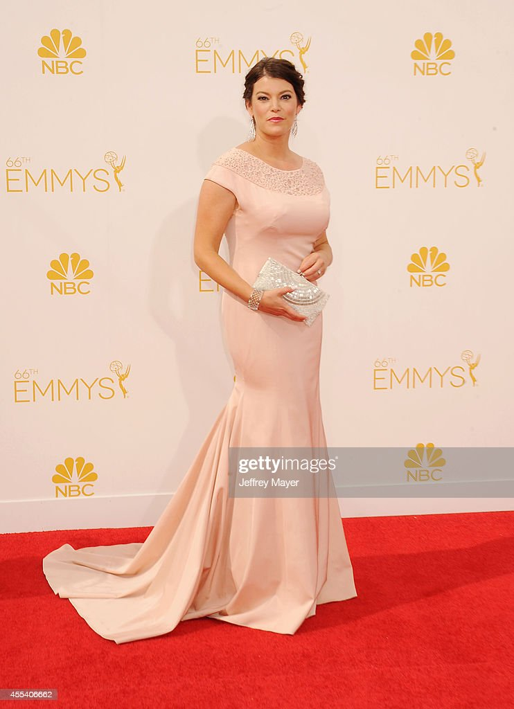 TV personality <a gi-track='captionPersonalityLinkClicked' href=/galleries/search?phrase=Gail+Simmons&family=editorial&specificpeople=4337508 ng-click='$event.stopPropagation()'>Gail Simmons</a> arrives at the 66th Annual Primetime Emmy Awards at Nokia Theatre L.A. Live on August 25, 2014 in Los Angeles, California.