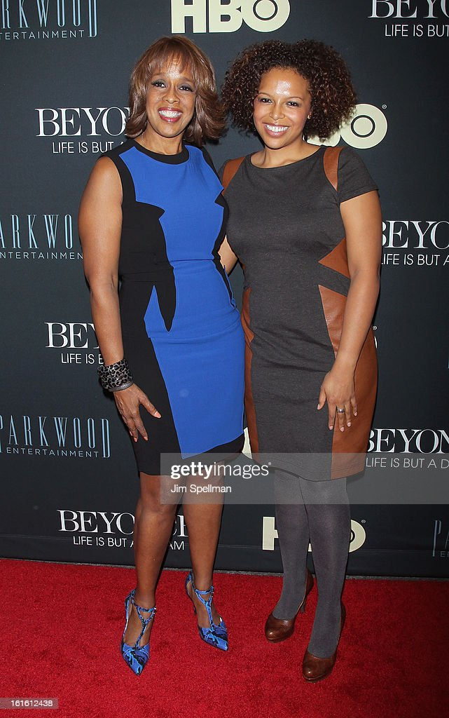 TV Personality Gayle King and daughter attend 'Beyonce: Life Is But A Dream' New York Premiere at Ziegfeld Theater on February 12, 2013 in New York City.