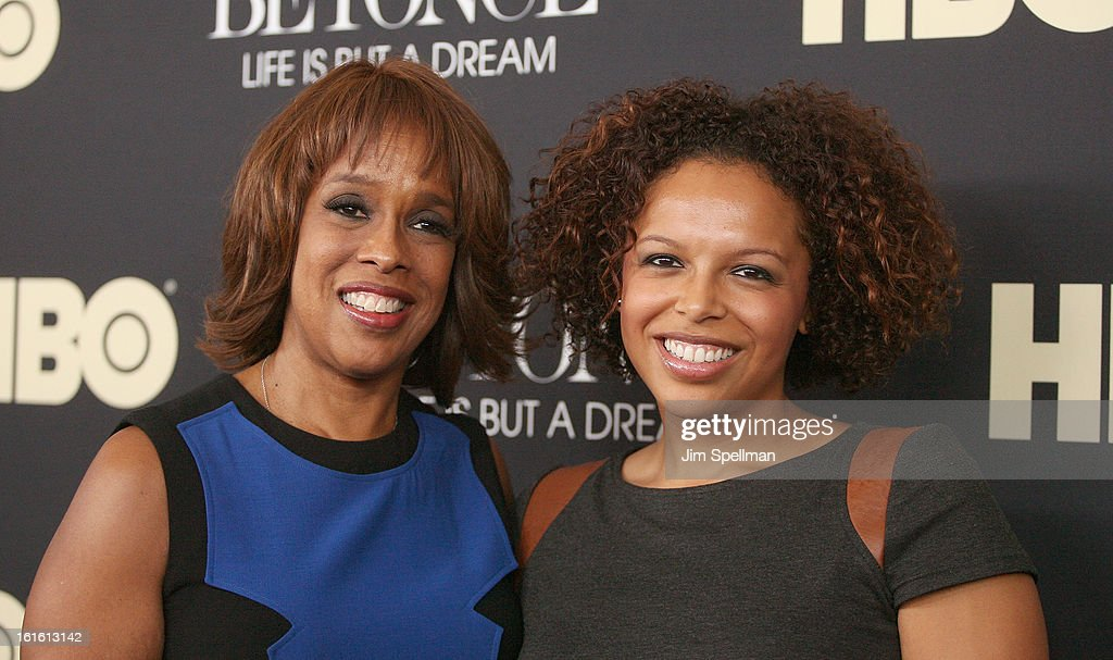 TV Personality <a gi-track='captionPersonalityLinkClicked' href=/galleries/search?phrase=Gayle+King&family=editorial&specificpeople=215469 ng-click='$event.stopPropagation()'>Gayle King</a> and daughter attend 'Beyonce: Life Is But A Dream' New York Premiere at Ziegfeld Theater on February 12, 2013 in New York City.