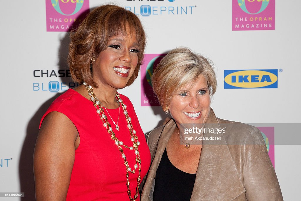 TV personality <a gi-track='captionPersonalityLinkClicked' href=/galleries/search?phrase=Gayle+King&family=editorial&specificpeople=215469 ng-click='$event.stopPropagation()'>Gayle King</a> (L) and financial advisor/TV personality <a gi-track='captionPersonalityLinkClicked' href=/galleries/search?phrase=Suze+Orman&family=editorial&specificpeople=556123 ng-click='$event.stopPropagation()'>Suze Orman</a> attend O, The Oprah Magazine's O You! Event at Los Angeles Convention Center on October 20, 2012 in Los Angeles, California.